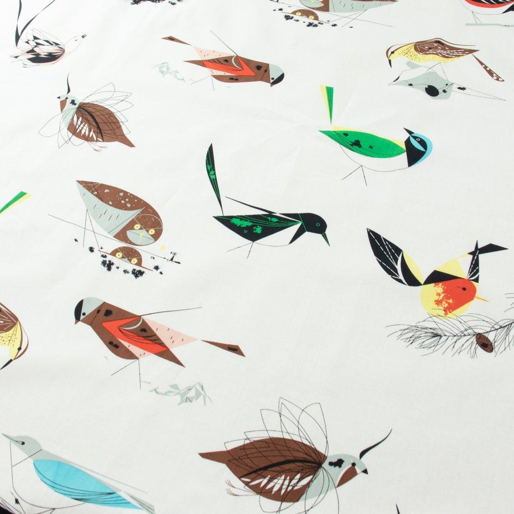 Charley Harper Western Birds Main Poplin Organic Cotton