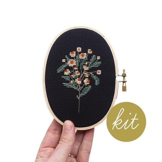 Moonlit Daisy Cross Stitch Kit