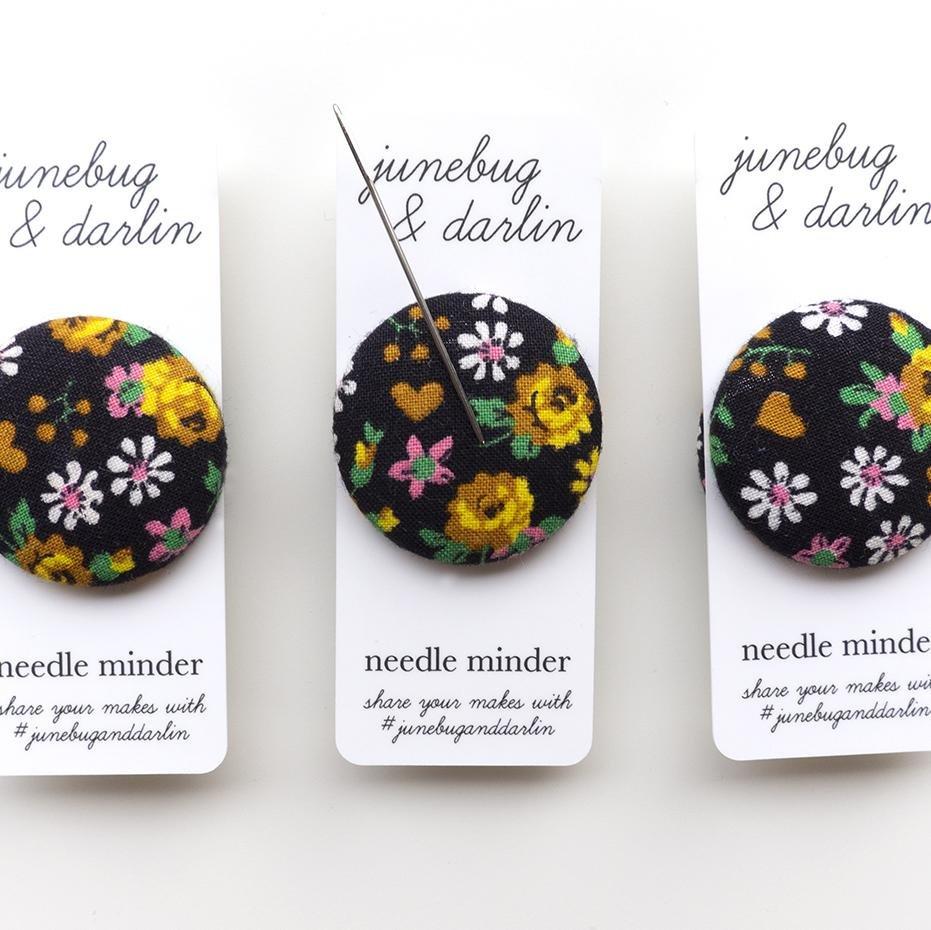Needle Minder Black Floral