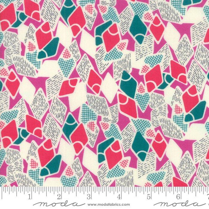 Jen Kingwell - Looking Forward - Petunia - Modern Flip Flops Pink