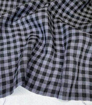 Savannah Yarn Dyed Linen – Gingham Check Charcoal