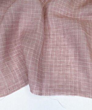 Savannah Yarn Dyed Linen – Window Pane - Dusty Rose