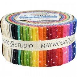 Maywood Studio - Beautiful Basics - Scattered Dot - 2.5 inch strips (40 pcs)