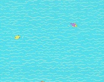 Michael Miller   - Sheep on Shore - Aqua -  Fish and Dip