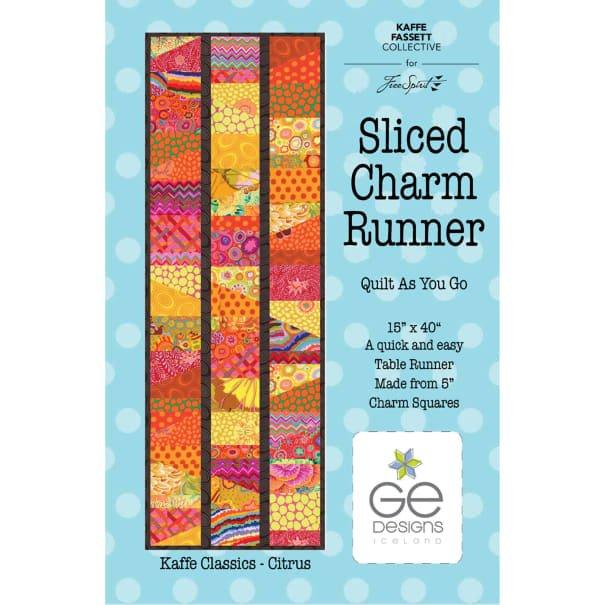 Kaffe Fassett - Table Runner Sliced Charm Runner kit - Citrus