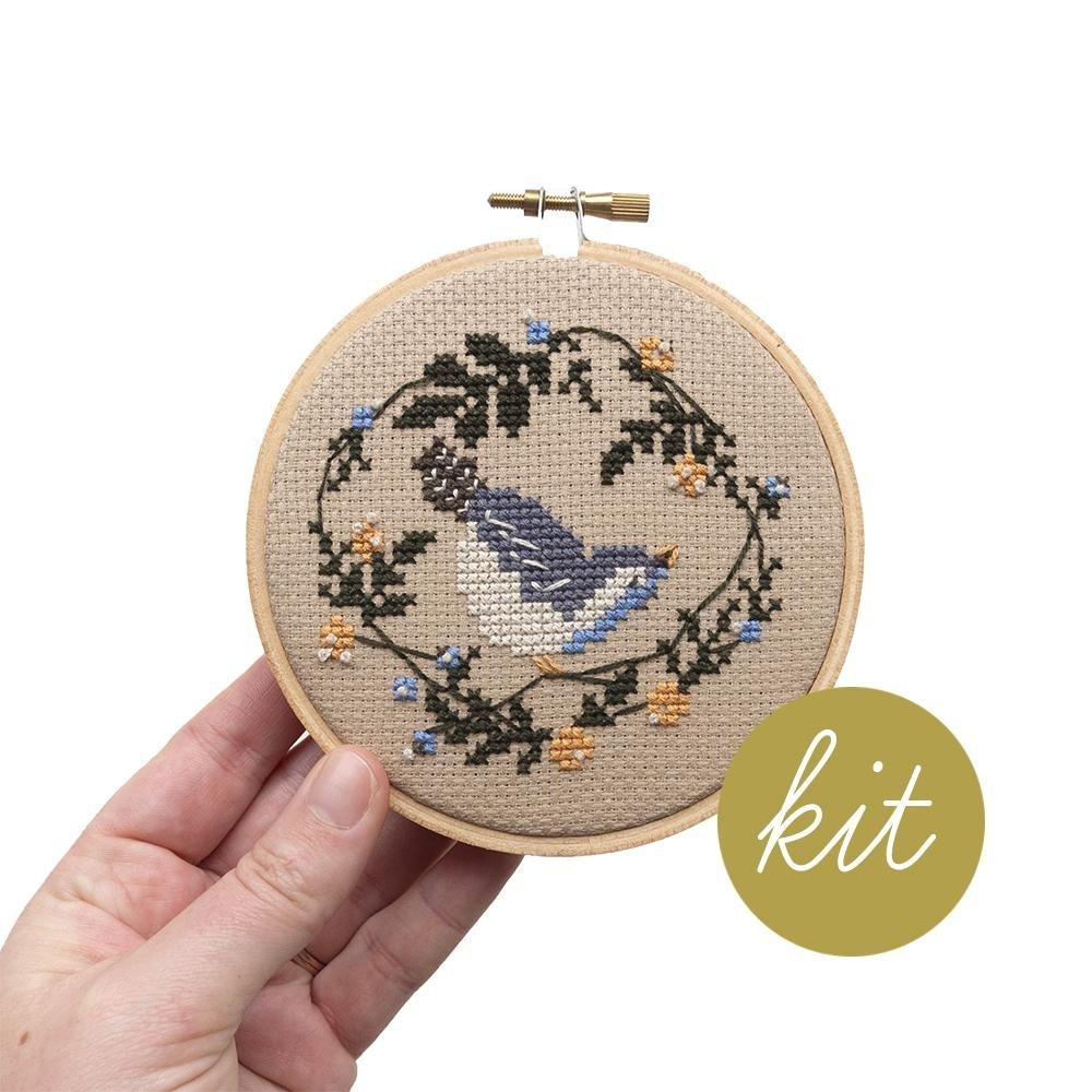 Spring Bird Cross Stitch Kit