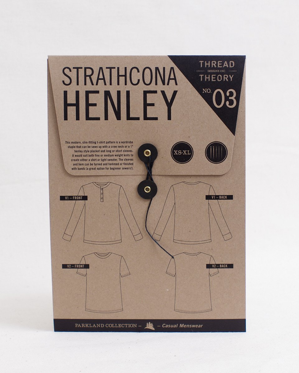 Strathcona Henley Paper Pattern by Thread Theory