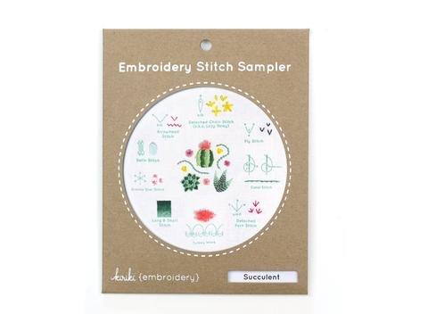 Embroidery Stitch Sampler - Succulent