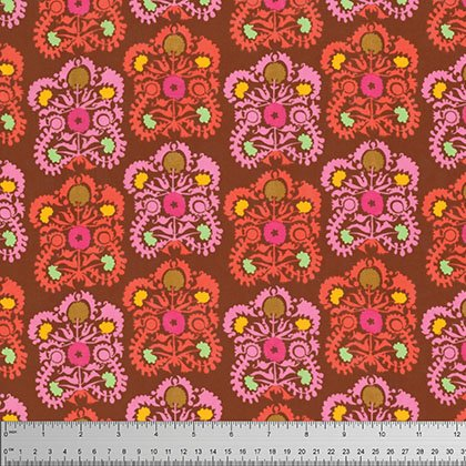 VOILE - Amy Butler - Dreamweaver - Gypsy Embroidery - Coral