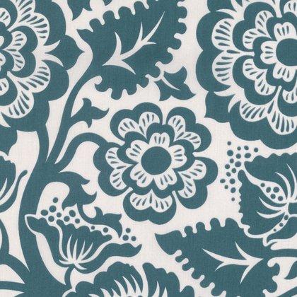 VOILE - Joel Dewberry - Modernist - Blockprint Blossom - Peacock