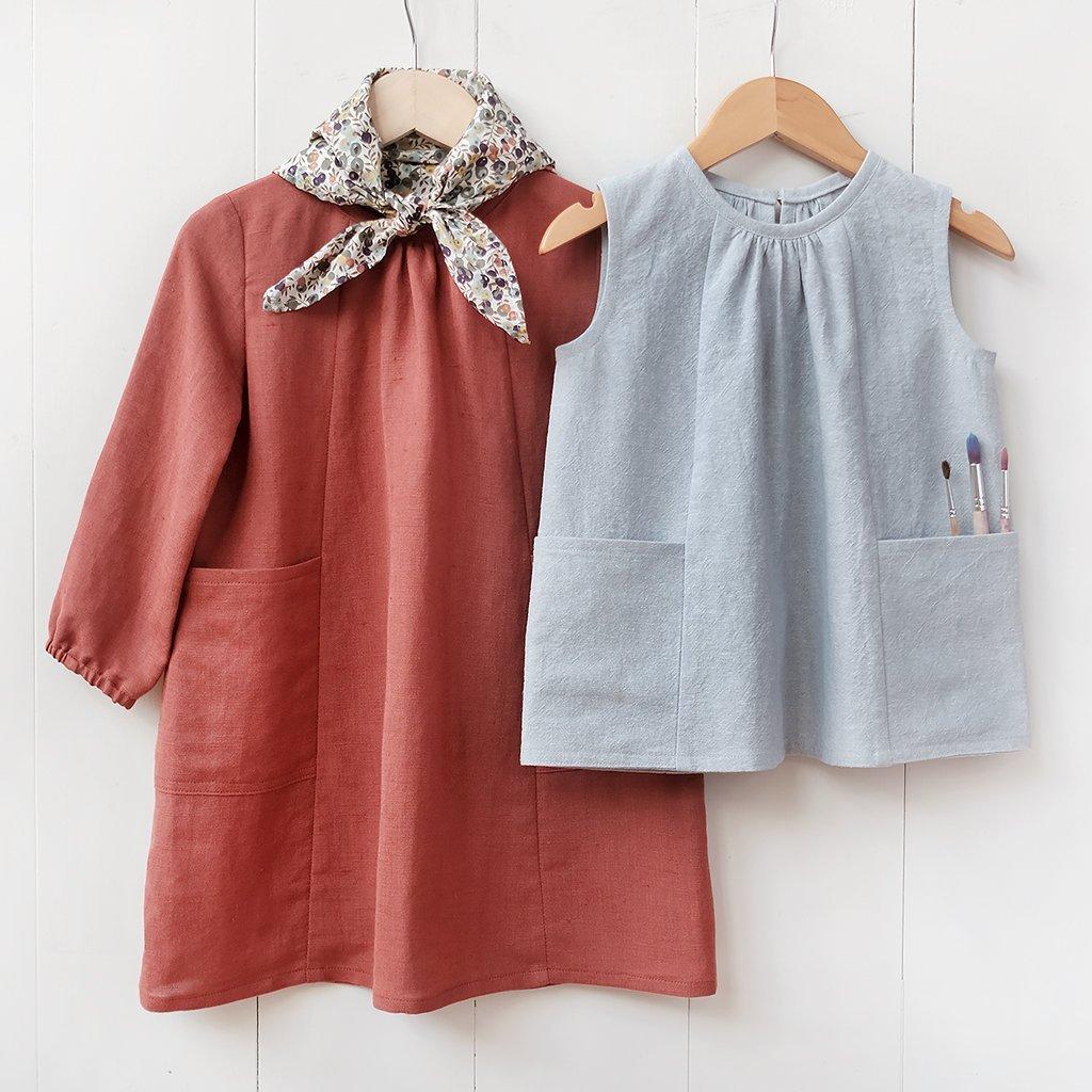 Wiksten Baby + Child Smock Top + Dress Sewing Printed Pattern
