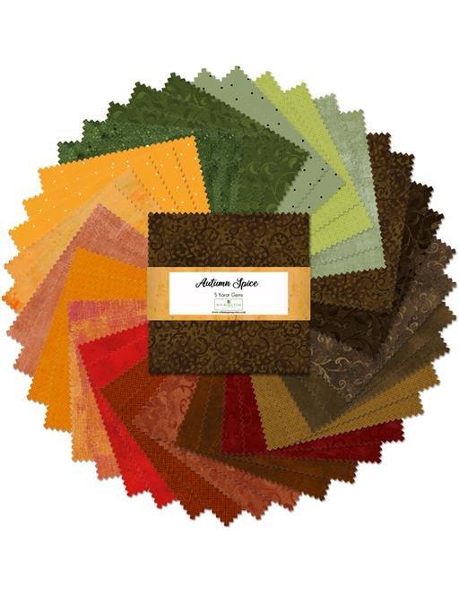 Autumn Spice 5 inch Squares