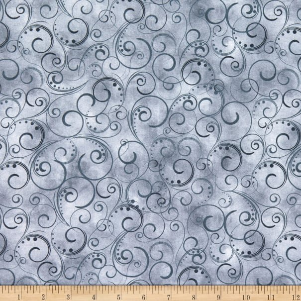 Swirling Splendor 9705W-13 Gray Smoke