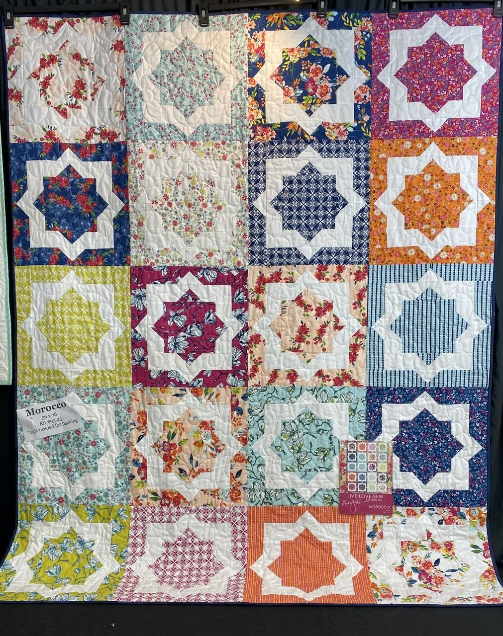 Morocco, 56X70,  Garden Party, includes binding & pattern