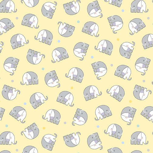 Baby Elephant Flannel 10445F-03 yellow