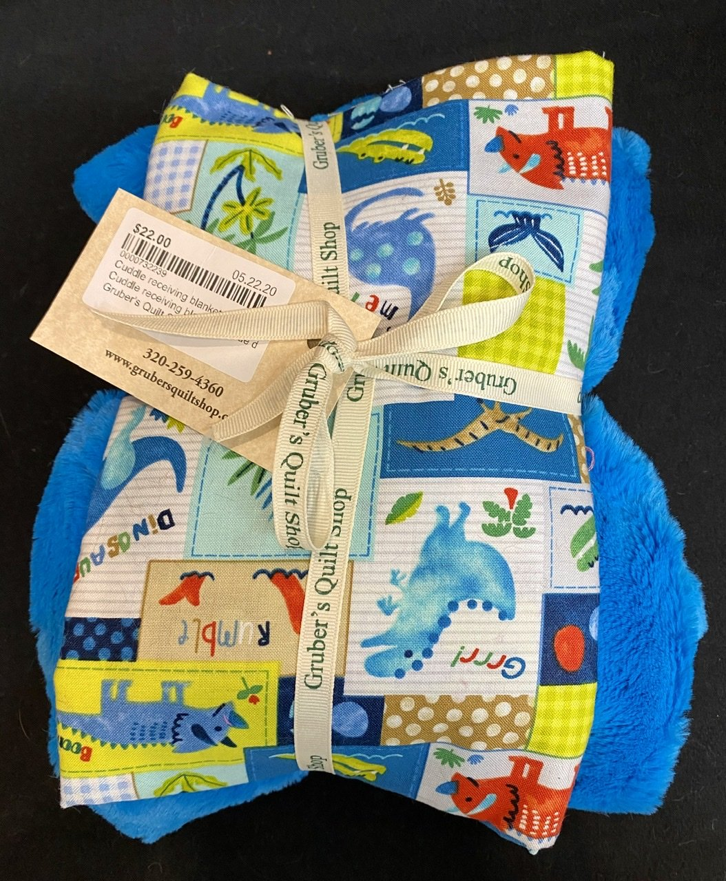 Cuddle receiving blanket kit
