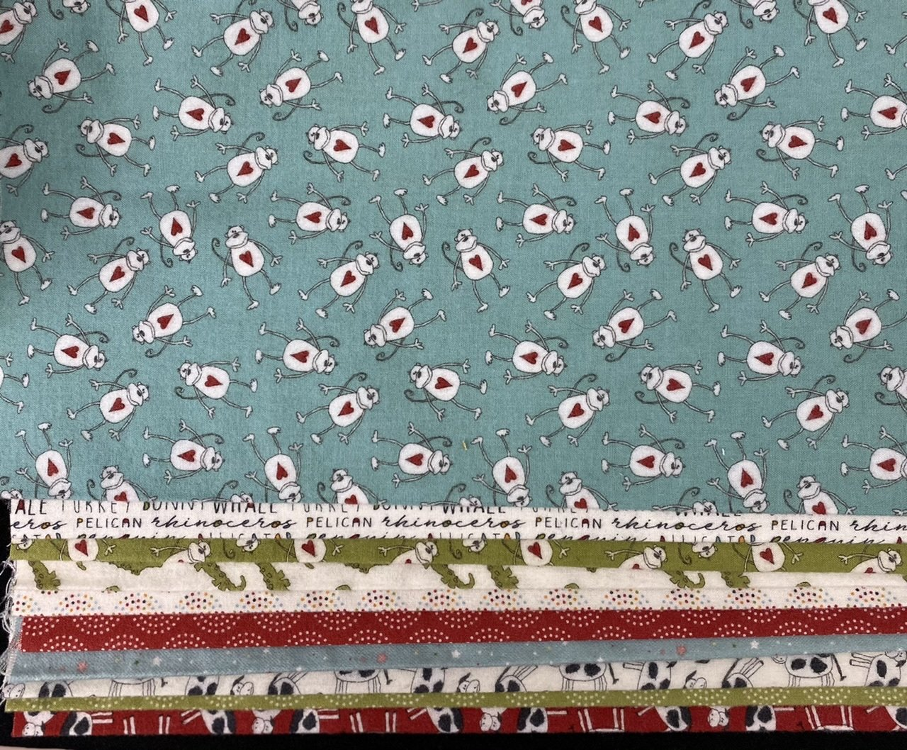 10 - 1/3yds Animal Crackers Flannel