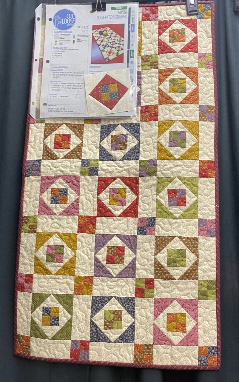 Four-Patch Squared tablerunner