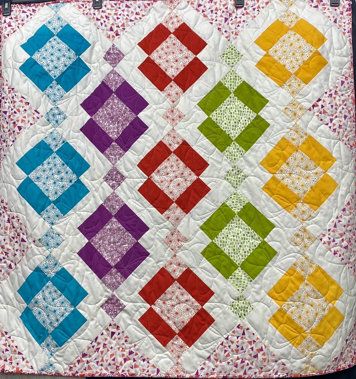 Baby Brights Kelly Quilt 43x43