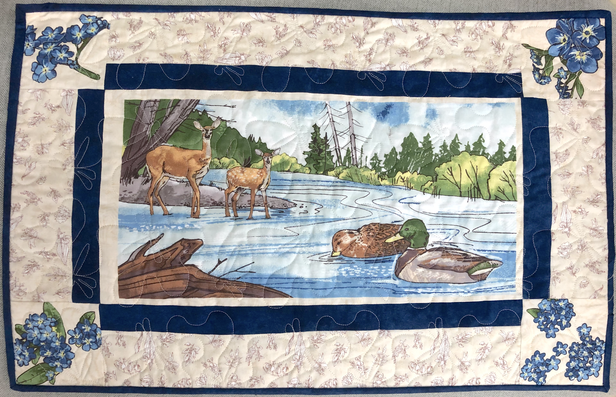 Quilt Minnesota 2019 Placemats Kit - 4 Different Drawings
