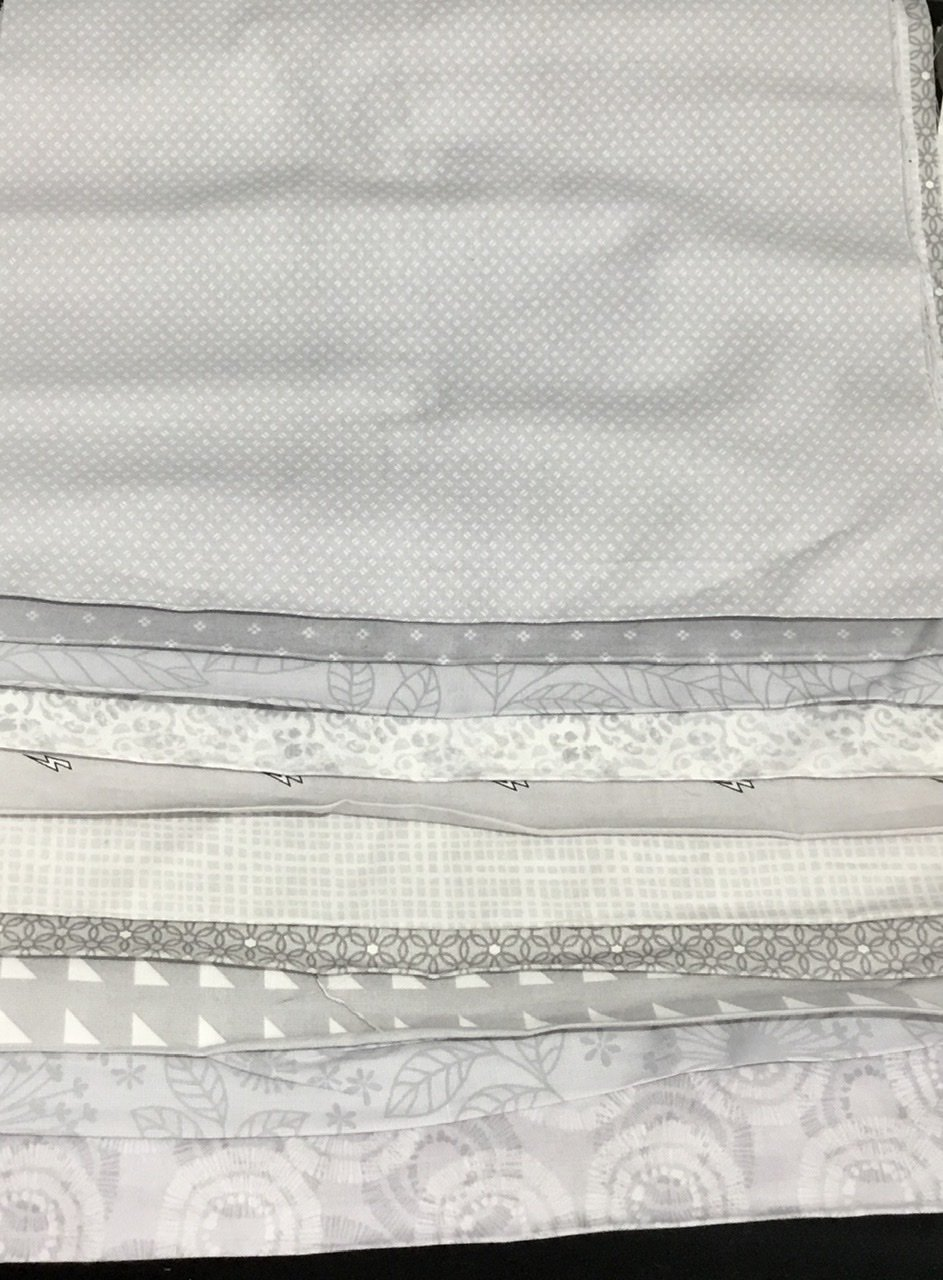 10 Light Grey Third Yards Bundle