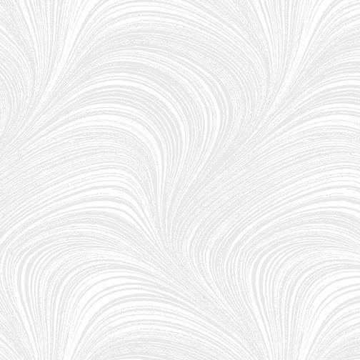 108 Wave Texture Flannel White