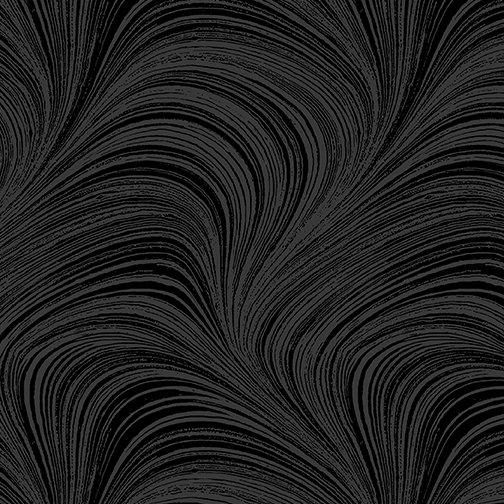 108 Wave Texture Flannel Black