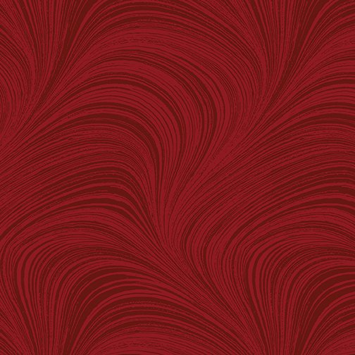 108 Wave Texture Flannel Red