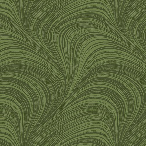 108 Wave Texture Flannel Green