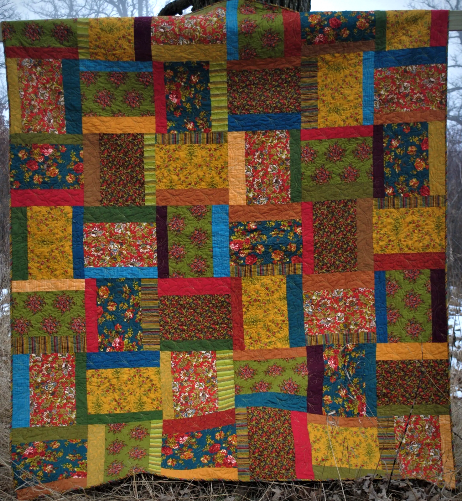 3 Across pattern by Quilting on the Curve