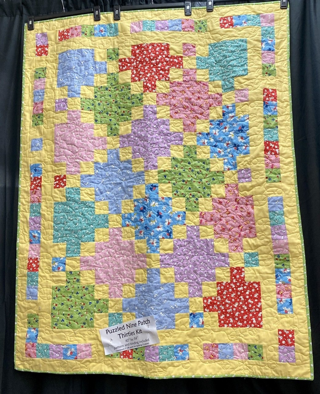 Puzzled Nine Patch Thirties Kit