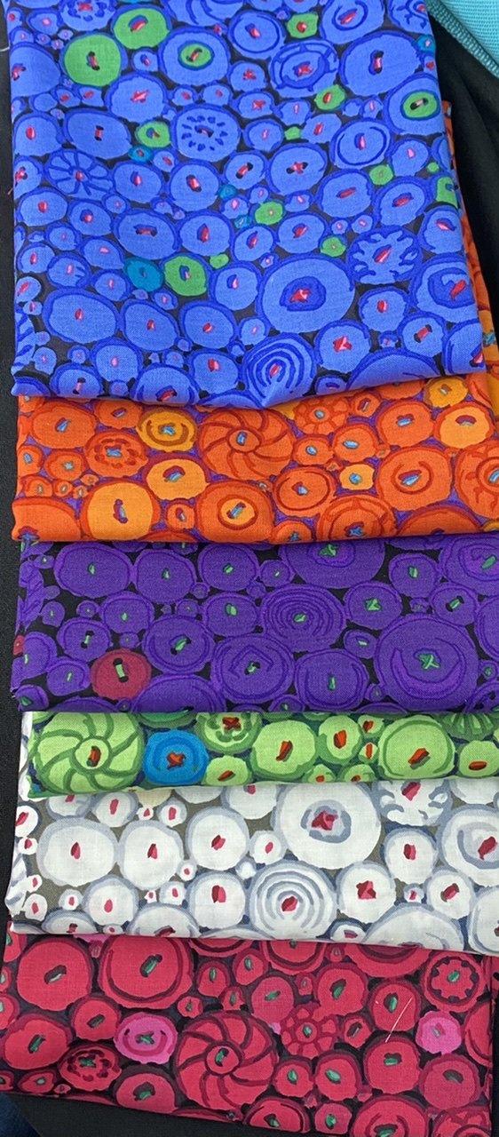 6pc Button Mosaic Half Yard Bundle