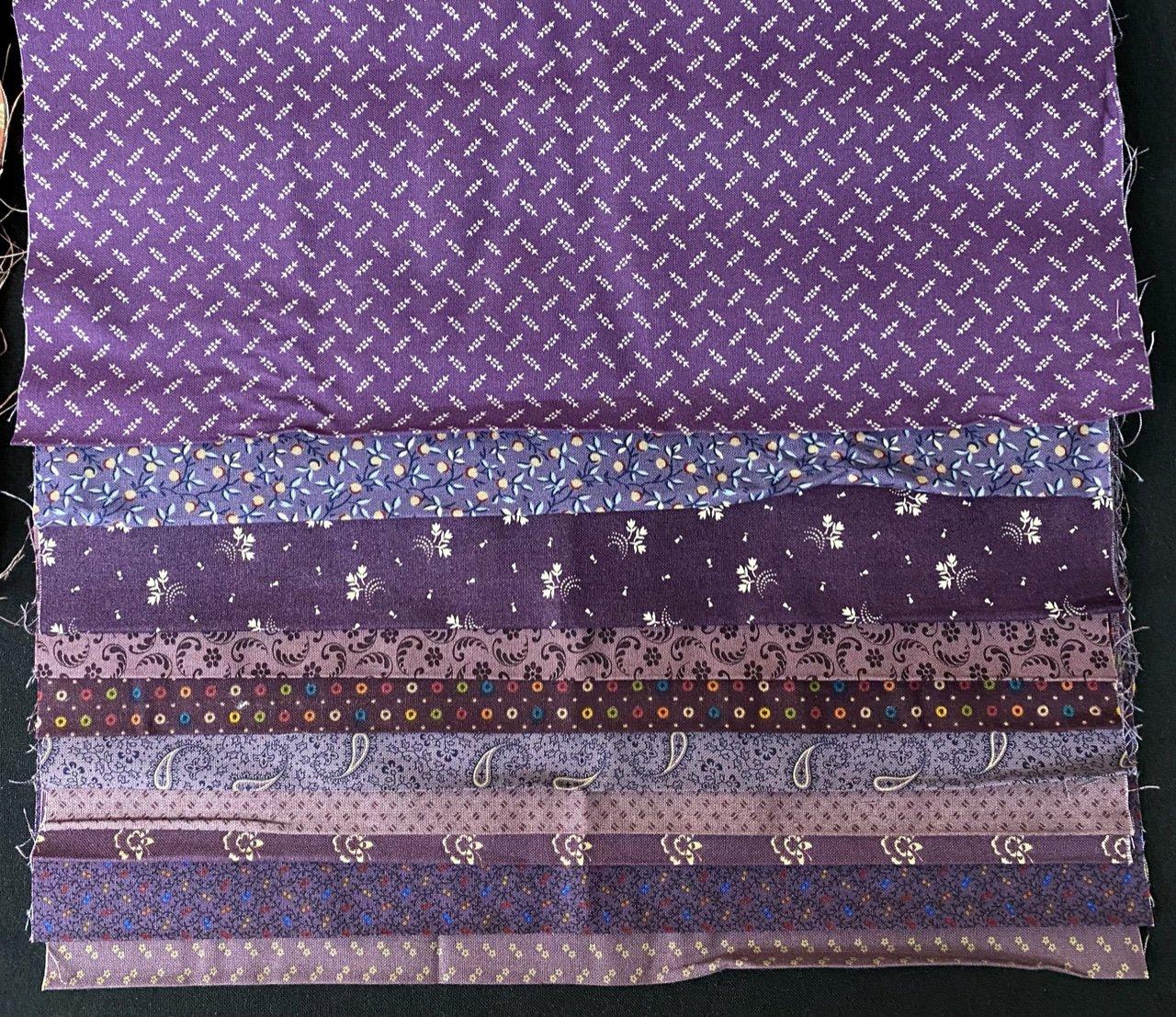10 Purple Reproduction Third Yard Bundle