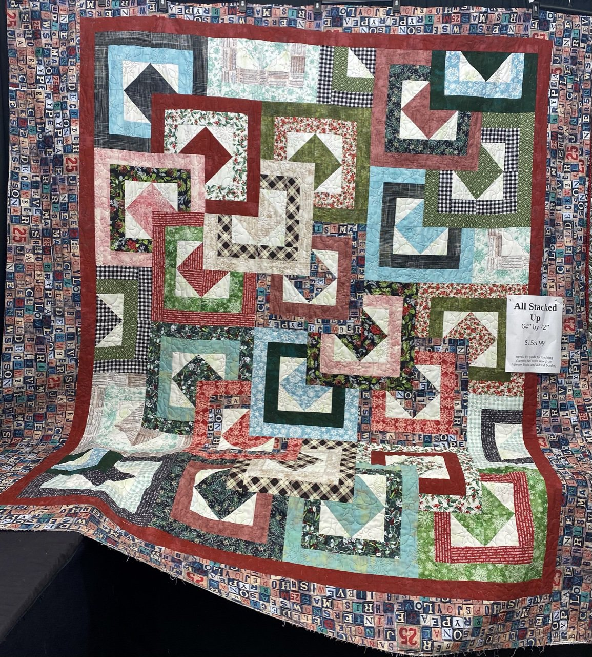 Christmastime All Stacked Up quilt kit 64x72