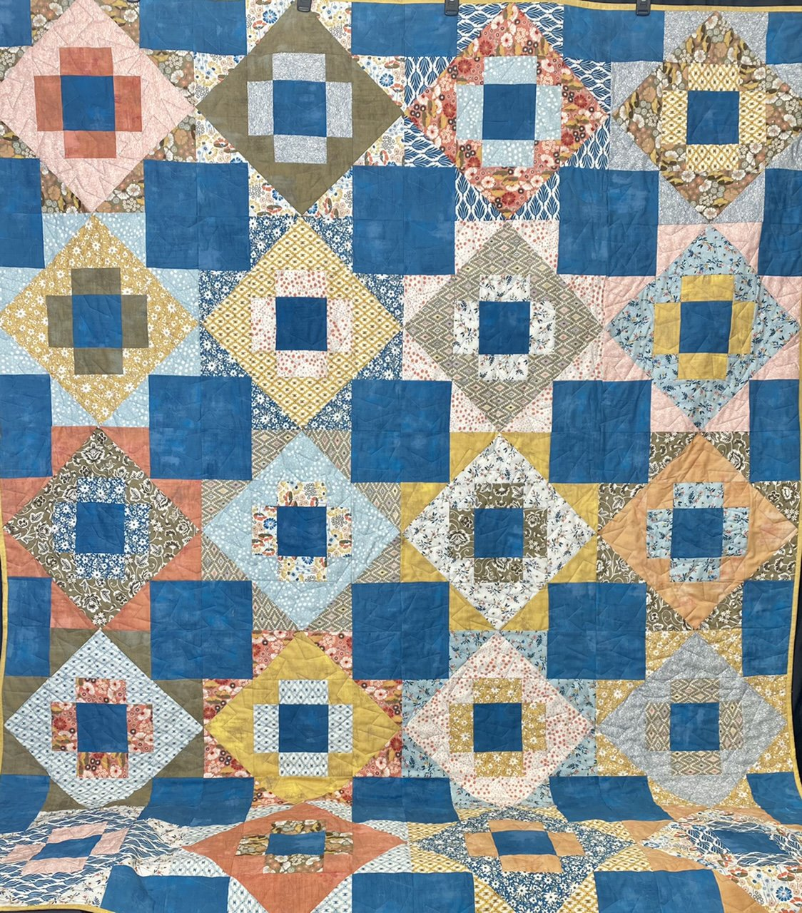 Meadowland Quilt Kit feat. Cider Line by Moda 64 x 80