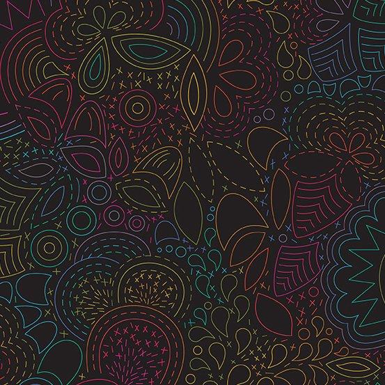 Art Theory 9702-C Night Rainbow Stitched