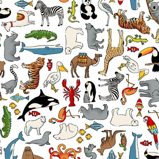 Around the World 2400-W White Animals