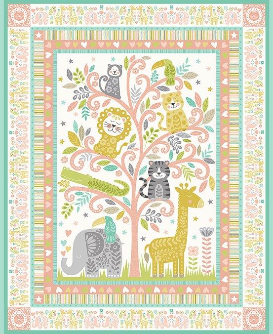 Baby Safari Pink Panel