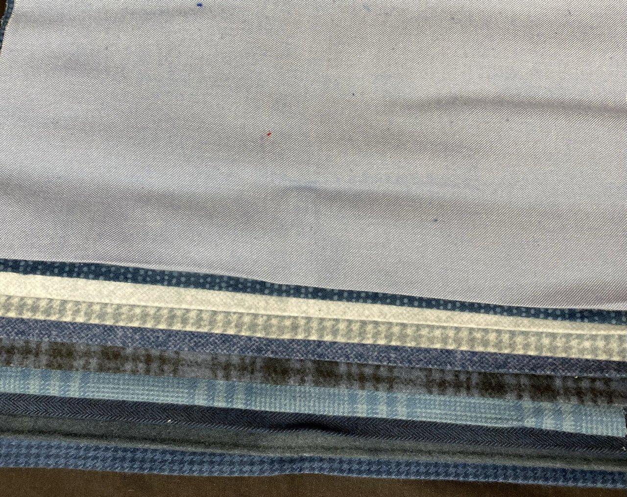 Flannel Third Yard Bundle in Blues