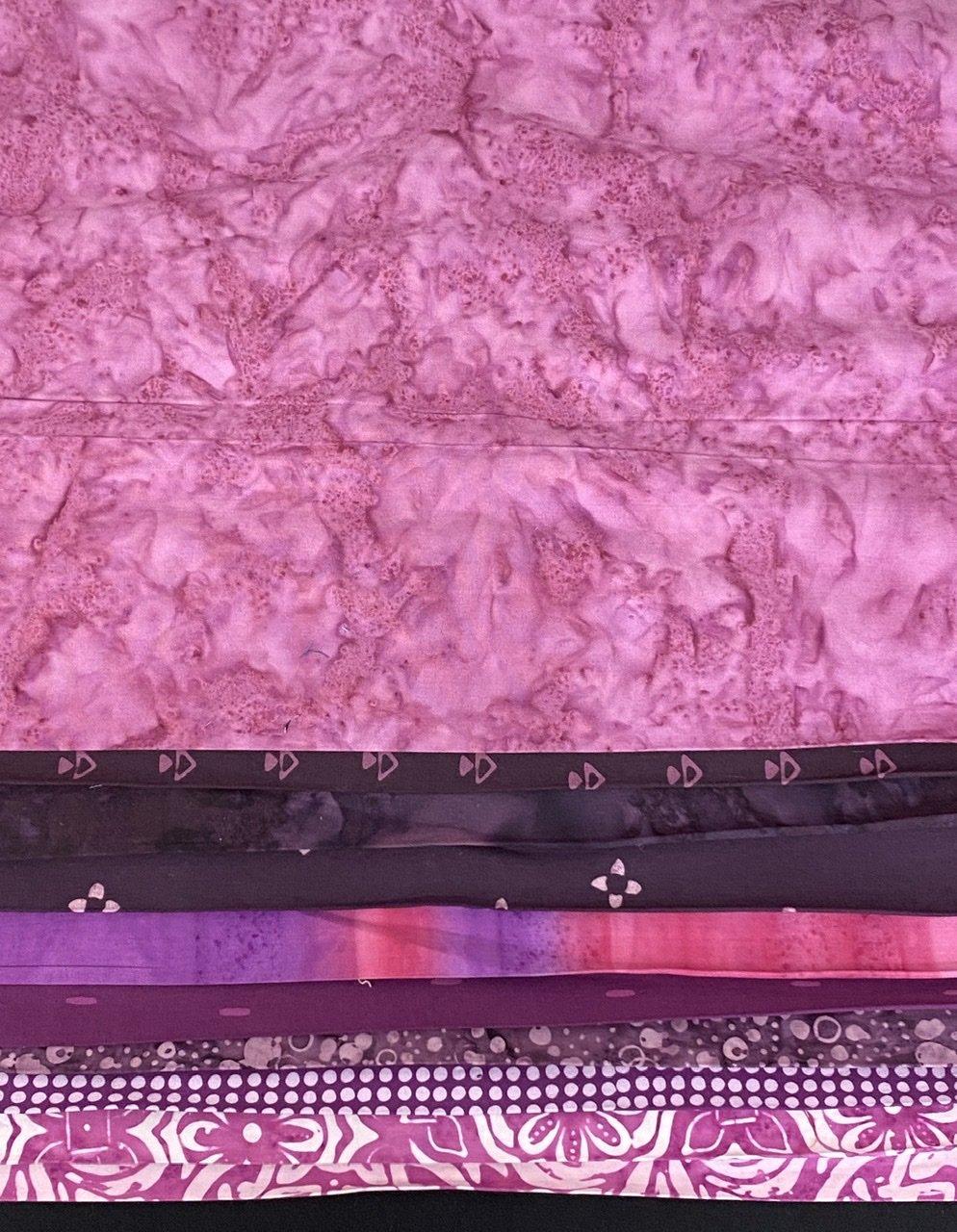 10 Purple Batik Third Yards Bundle