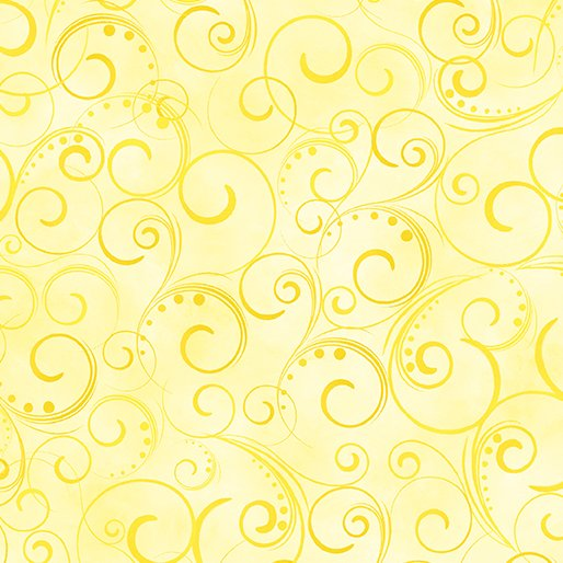 Swirling Splendor 9705W-33 Light Yellow