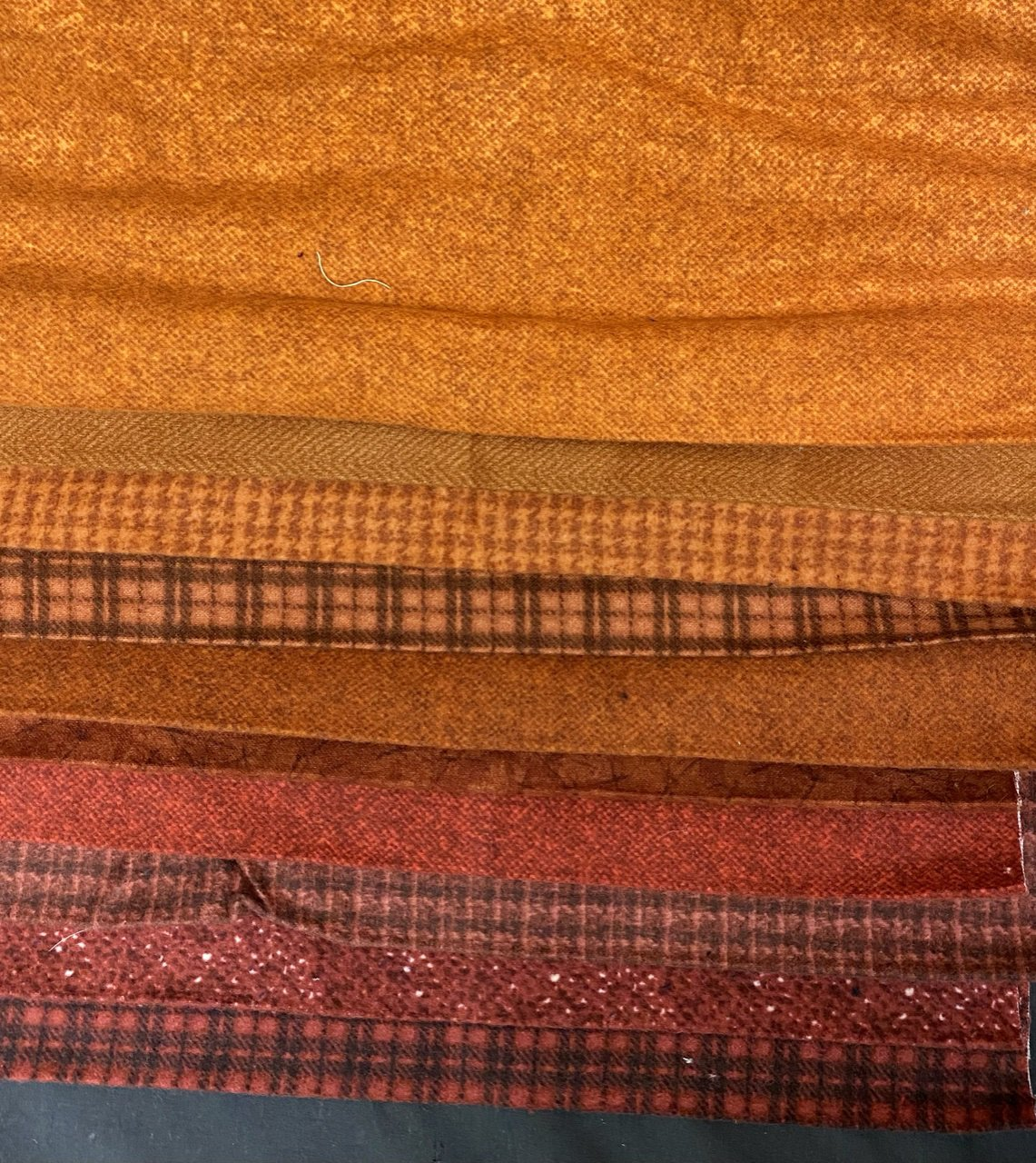 Flannel Third Yard Bundle in Rust