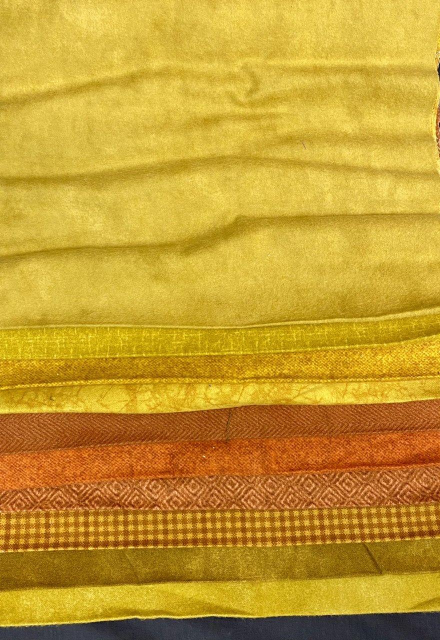 Flannel Third Yard Bundle in Golds