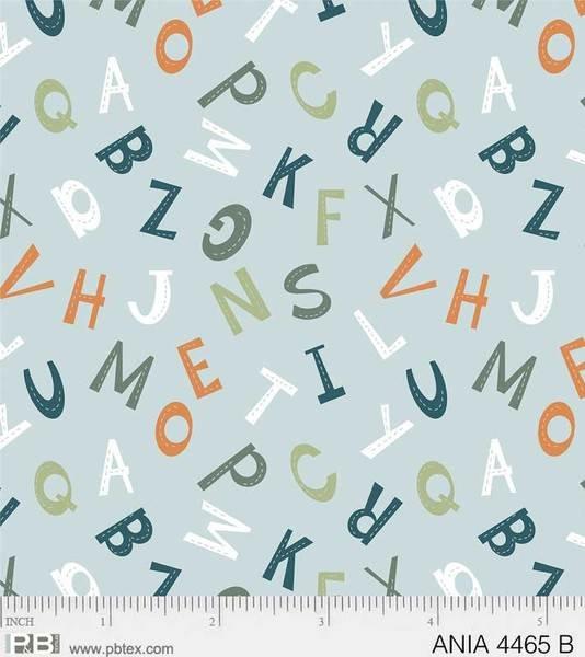 Animal Alphabet 4465-B Blue Letters