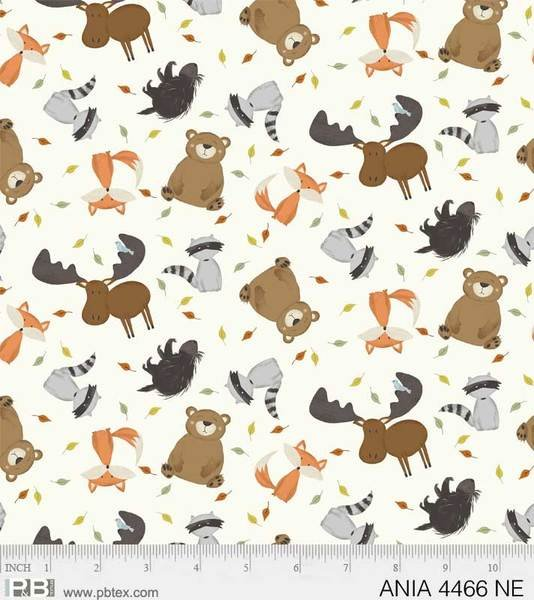 Animal Alphabet 4466-NE Tossed Animals Cream