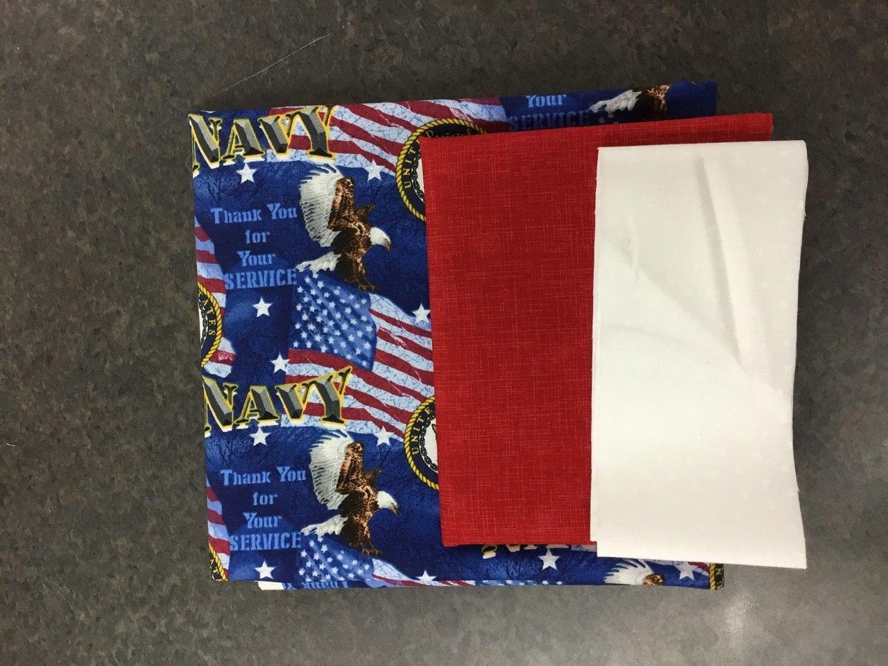 Navy pillow case kit