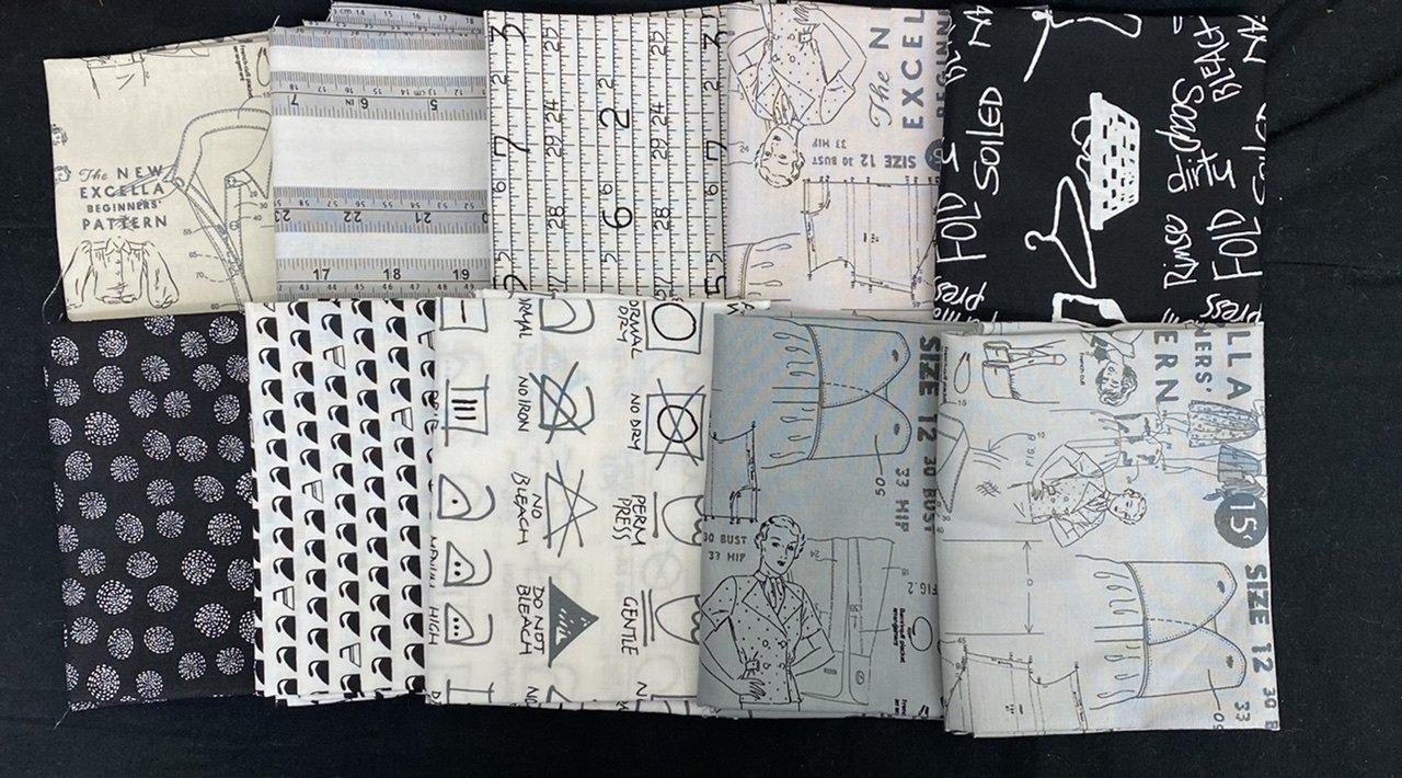 Sewing Themed Fat Quarter Bundle Neutrals