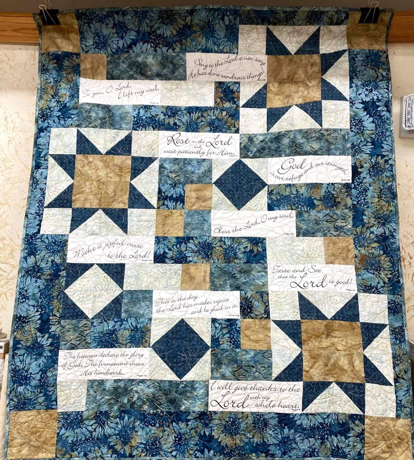 Comfort of Psalms Kit 40 x 49 (fabrics vary)