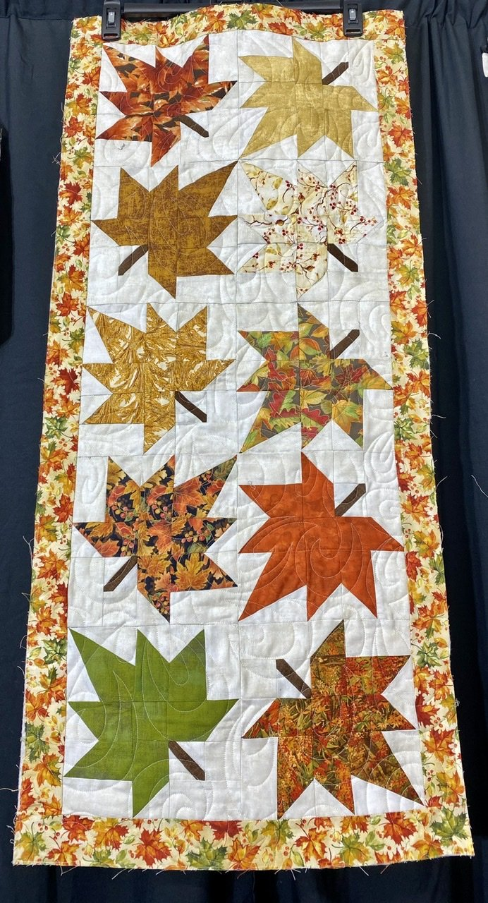 Maple Leaf Runner 18 x 40 1/2 Kit Includes Binding, Pattern, & Backing