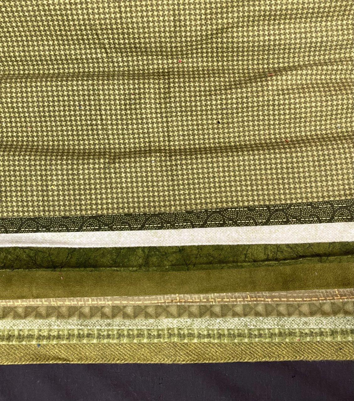 Flannel Third Yard Bundle in Greens